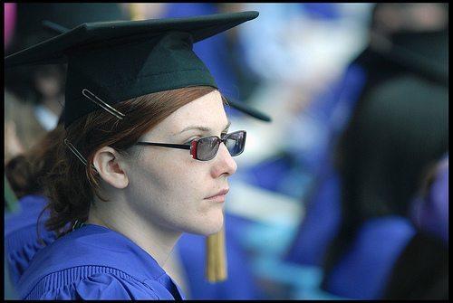 NYU Student at Yankee Stadium Graduation May 14, 08