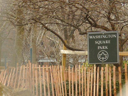 washington sq park under construction