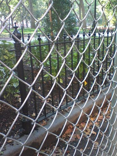 Washington Sq Park Fence Being Installed