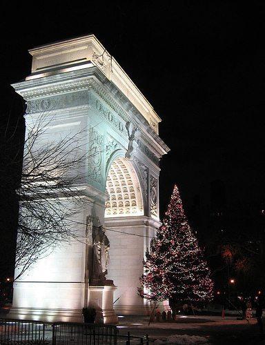 Washington Square Park Christmas Tree Lighting and Caroling Wednesday, December 10th, 6 p.m.