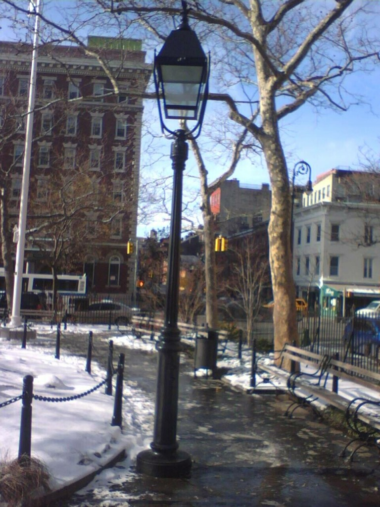 Lights at Abingdon Square