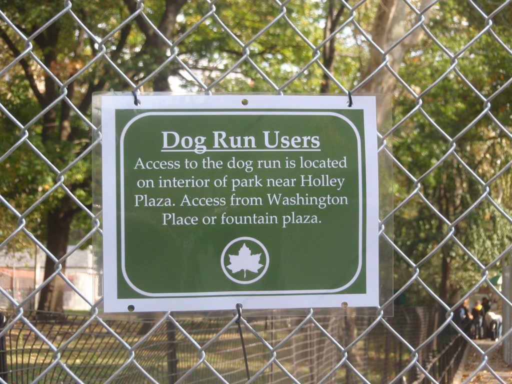 To get to the Dog Run Now...