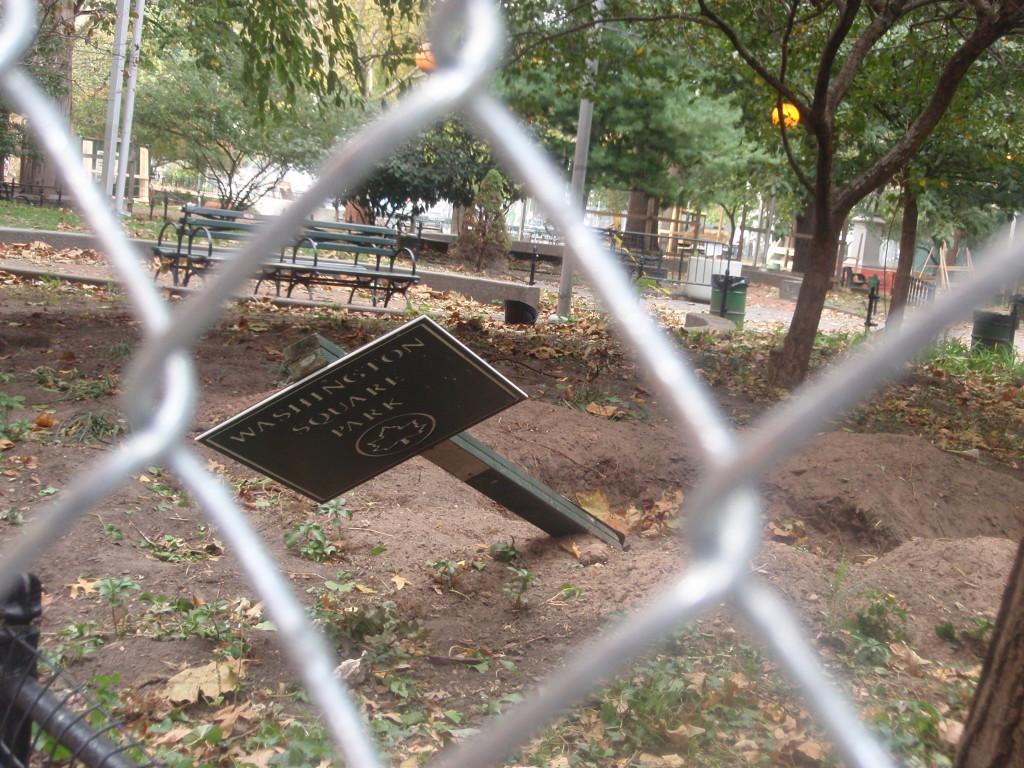 SouthEast Corner WSP Sign (Knocked over...)