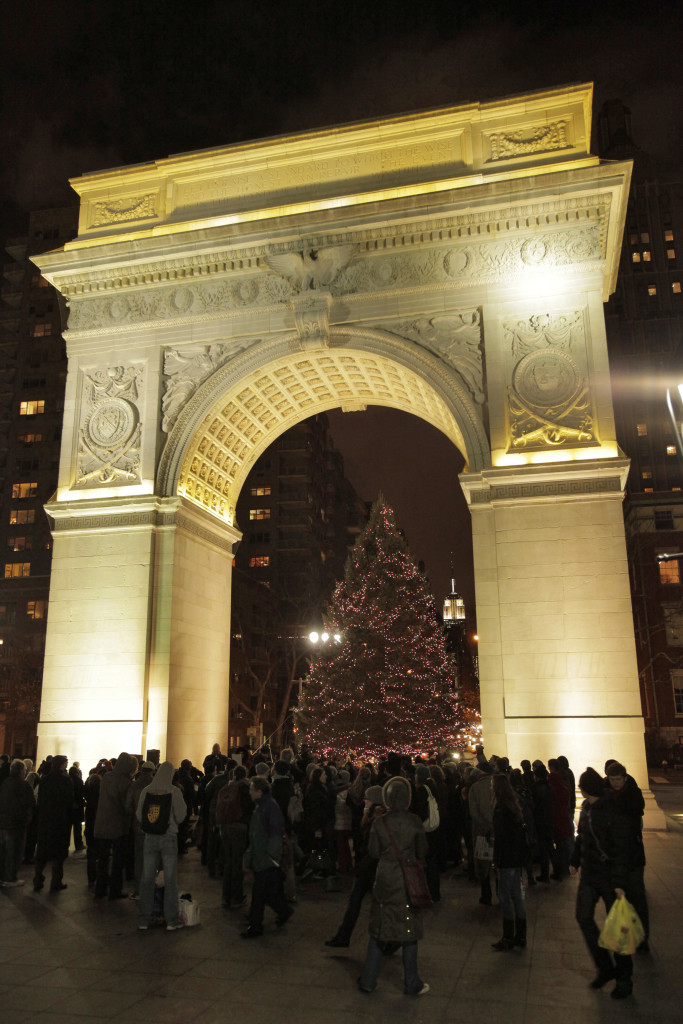 Washington Square Park Annual Tree Lighting Tuesday, December 7th & Caroling Friday, December 24th