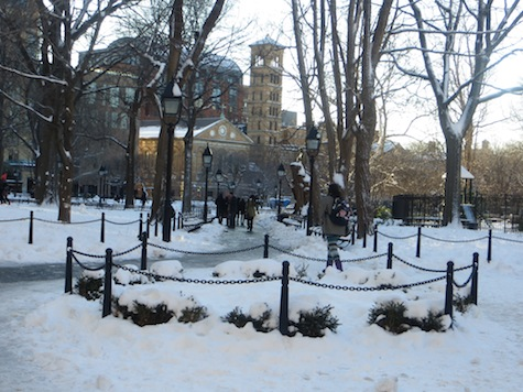 Washington Square in the Snow * In Photos, Early February 2013 (Will we have more before Spring?)